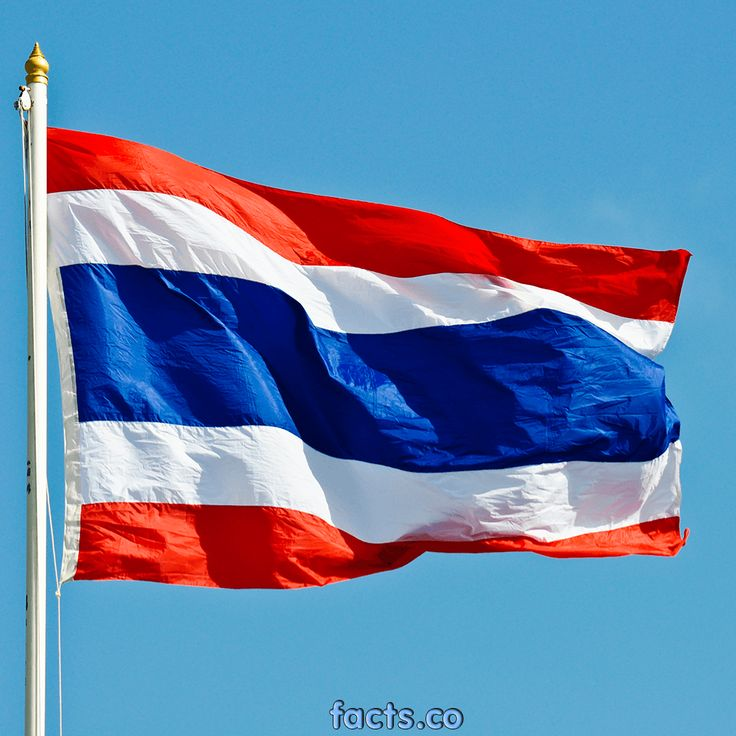 thailand flag - the central red stripe was changed to blue in the midst of WWI to express solidarity with the Allies (UK, USA, France, and Russia). So cool.