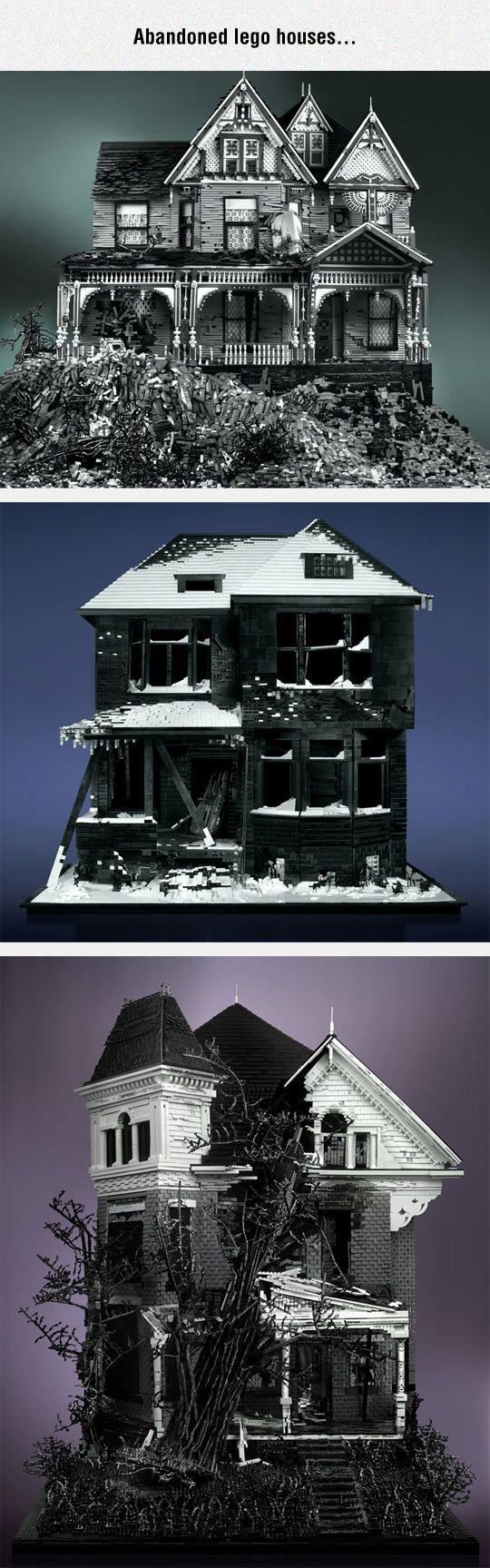 Artistic And Scary Houses Made Using Lego
