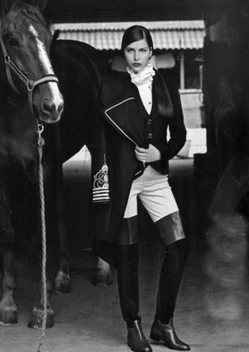 Equestrian chic • La Cavalière masquée 2. Inspiration for clothes and beautiful horses!