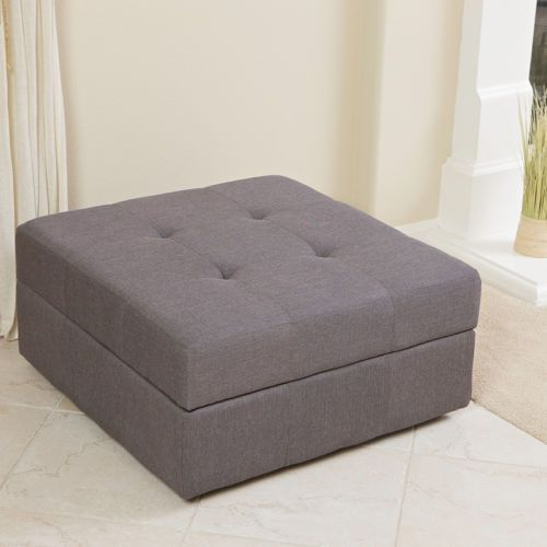 Elegant Spacious Gray Fabric Storage Ottoman Coffee Table With Tufted Top - 25+ Best Ideas About Storage Ottoman Coffee Table On Pinterest