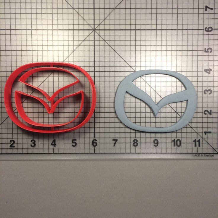Mazda Logo Cookie Cutter JBCookieCutters.com customizes moldings, cookie cutters, cookie cutter, cutters, cutter, silicone mold, silicone molds, stencil, stencils, baking supplies, baking