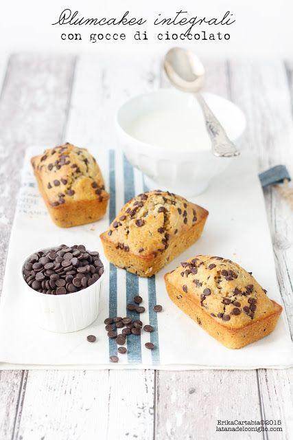La tana del coniglio: Plumcakes integrali con gocce di cioccolato