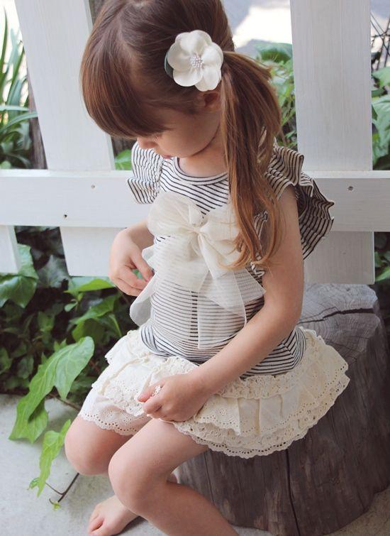 【楽天市場】ボーダーt 半袖 子供服 AA6【プリン 肩フリルT(リボンコサージュブローチセット)】夏らしいリボンコサージュ付きのボーダー柄のTシャツで常におしゃれさん★:子供服 ピンクキャット