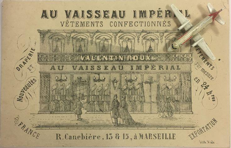 Aux VAISSEAU IMPÉRIAL Marseille litho Viale