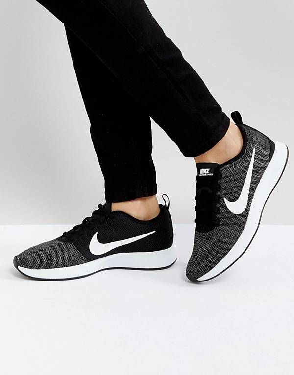 hot sales 5357a 2b8b9 Nike Dualtone Racer Trainers In Black