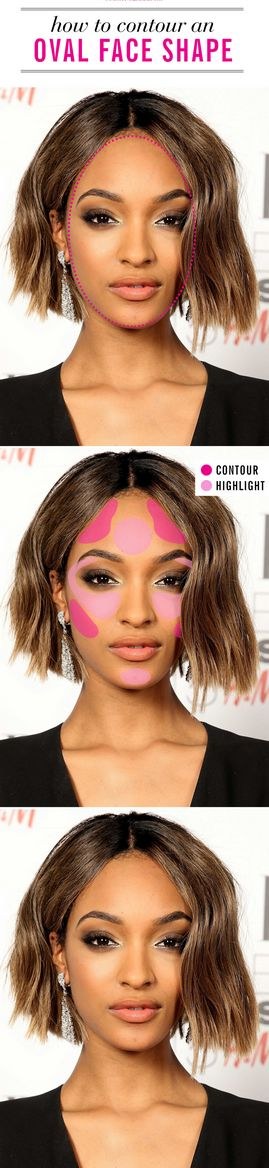 How to contour an oval face shape.