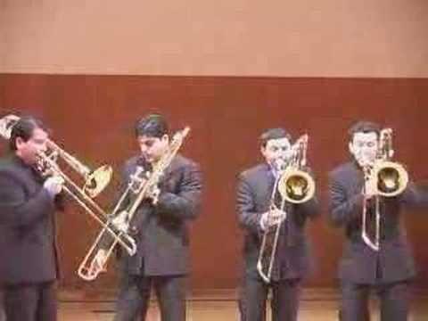 Bach: Toccata & Fugue in D minor trombone...amazing