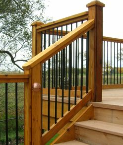 Deck Stair Railing Home Depot See 100s of Deck Railing Ideas http://awoodrailing.com/2014/11/16/100s-of-deck-railing-ideas-designs/