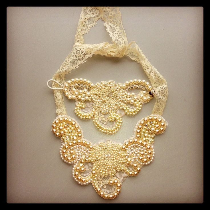 Vintage Handmade Pearl Bridal Necklace and by JoGeorgeDesigns, £79.99