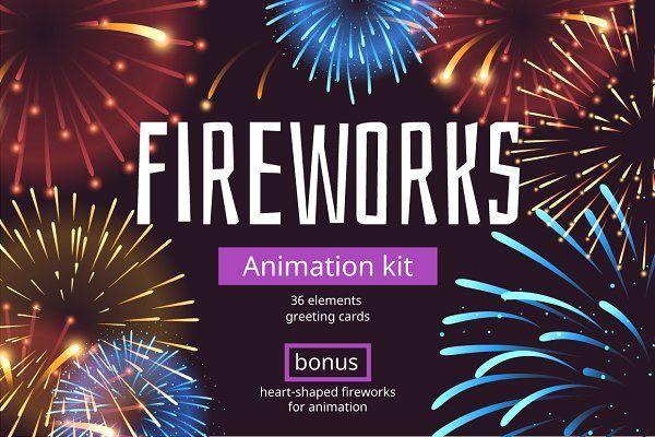 Fireworks Animation Kit Fireworks Animation Fireworks Animation