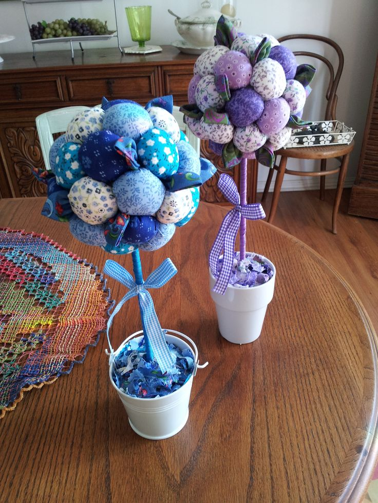 Fuxico Trees, made by my mom. Love them