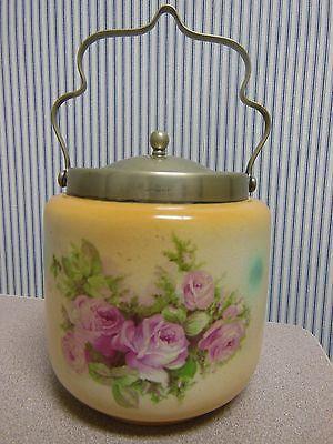 Antique Vintage English Biscuit Barrel /Cracker Jar