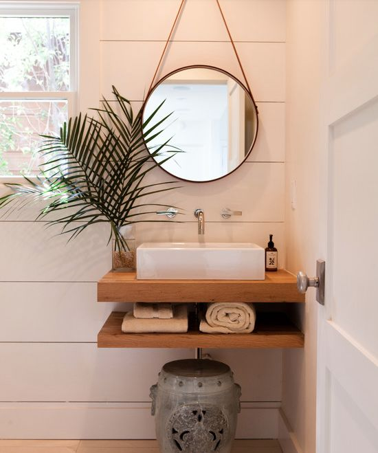 great for a small bathroom mirror floating shelves sink