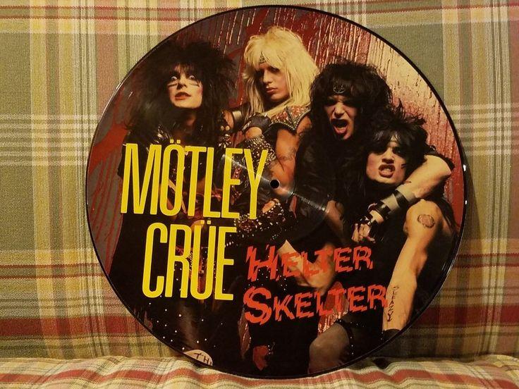MOTLEY CRUE HELTER SKELTER PICTURE DISC + TOO FAST FOR LOVE LP's #RockHardRock