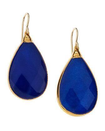 Devon Leigh Blue Jade Teardrop earrings