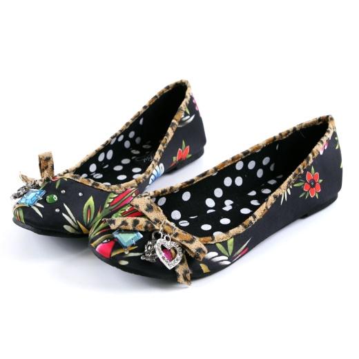 Iron Fist Shoes Society Suicide Flat Pumps in Black (a favourite repin of VIP Fashion Australia www.vipfashionaustralia.com )
