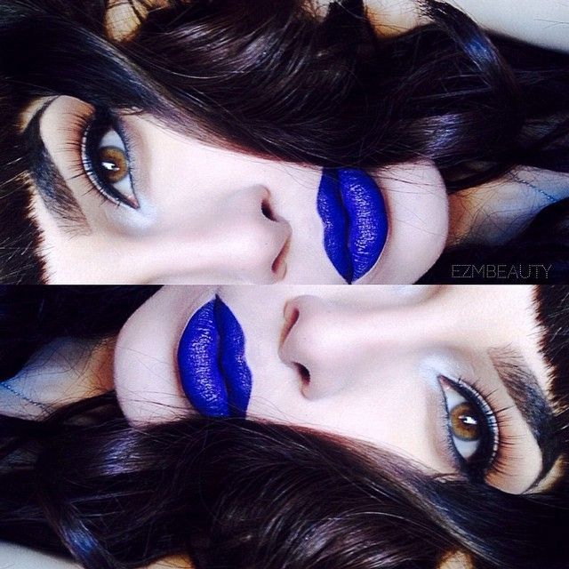 makeup love the blue lipstick   Fashion   Pinterest   Makeup, Lip Makeup and Beauty makeup