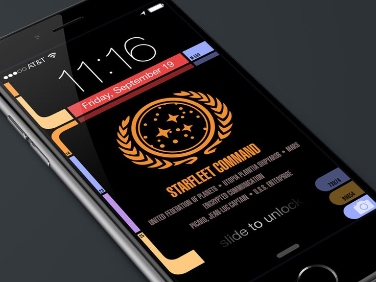 An updated version of my original LCARS Star Trek lock screen for iPhone 6, 6 Plus and 5 Series. Grab the image that best fits your device. Make sure you pinch-zoom OUT on the image before you set ...