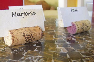 Hope Studios: Tutorial Tuesday: How to Make Wine Cork Place Card Holders