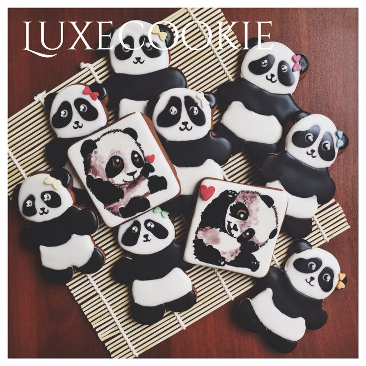 Panda cookie decor