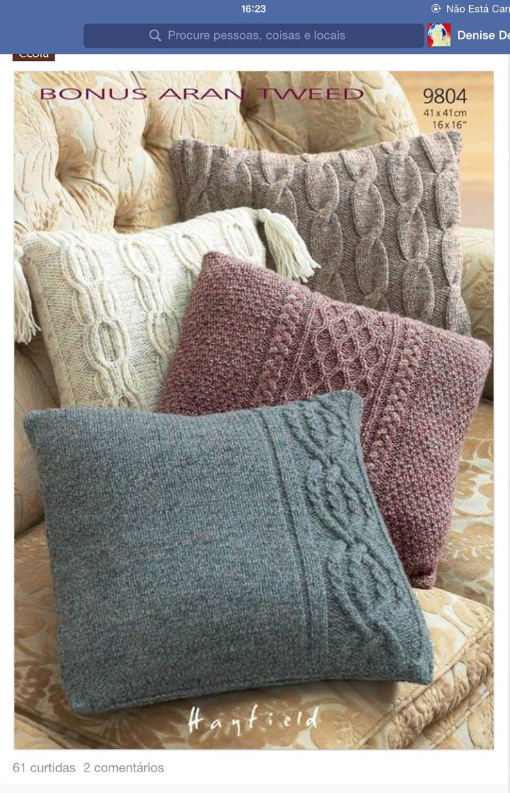 Pillow Cases in Hayfield Bonus Aran Tweed with Wool - Discover more  Patterns by Hayfield at LoveKnitting. The worlds largest range of knitting  supplies - we ...