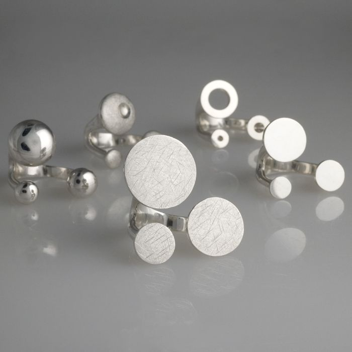 "Luisa Bruni, Series rings ""•••"" - Silver -"