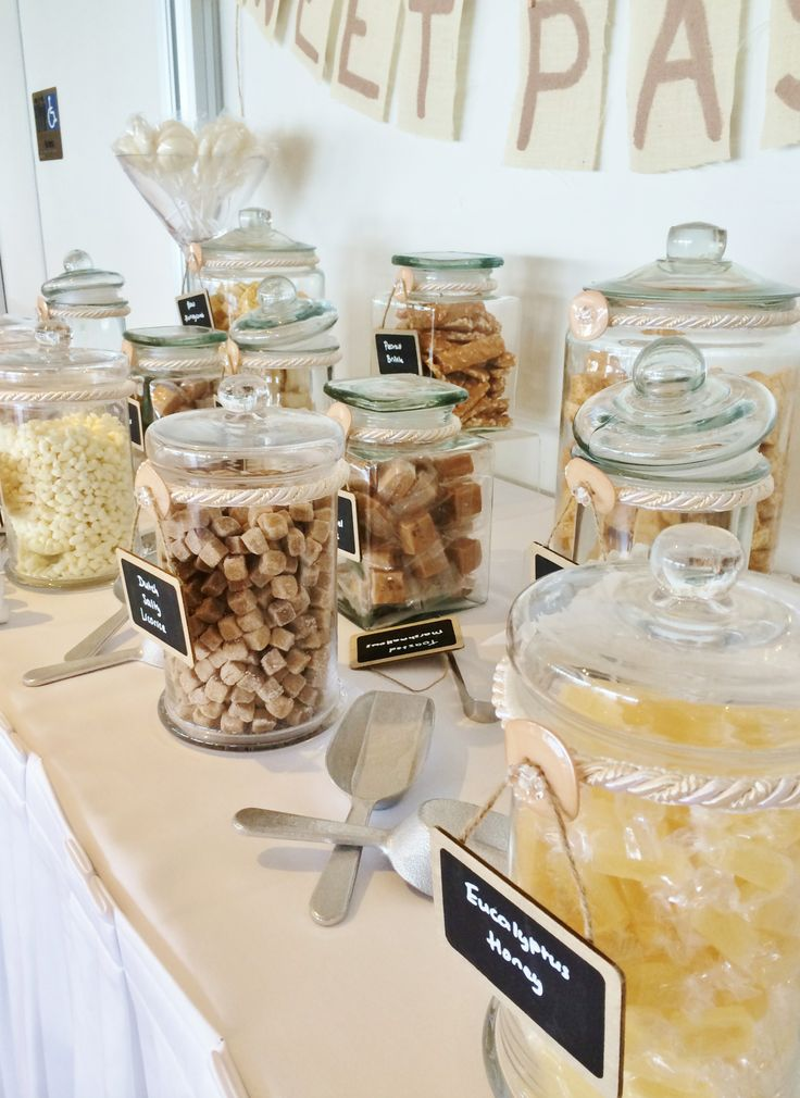 We love the lolly selection for this candy bar by @Beedazzled Events . It ties in perfectly with the theme of the day.