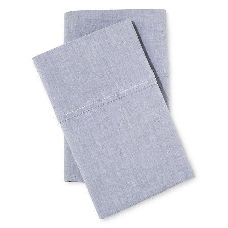 Chambray Pillowcase Set - Threshold™ : Target