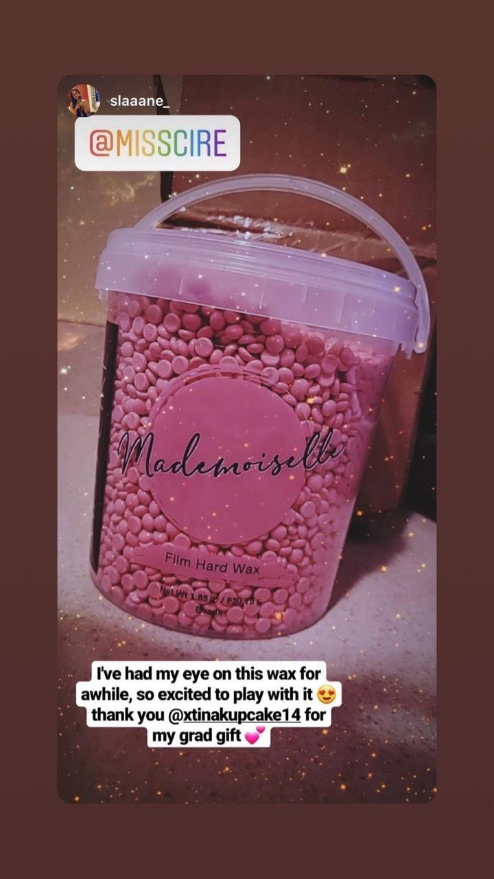 Mademoiselle Pink Polymer Based Film Hard Wax Beads 1 85 Lb