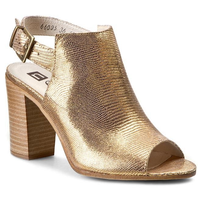 Sandály NESSI - 66005  Złoty Lizaro