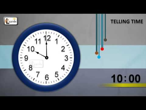 How to tell time | Learn to tell time for children | Telling time | Learning video for children - YouTube