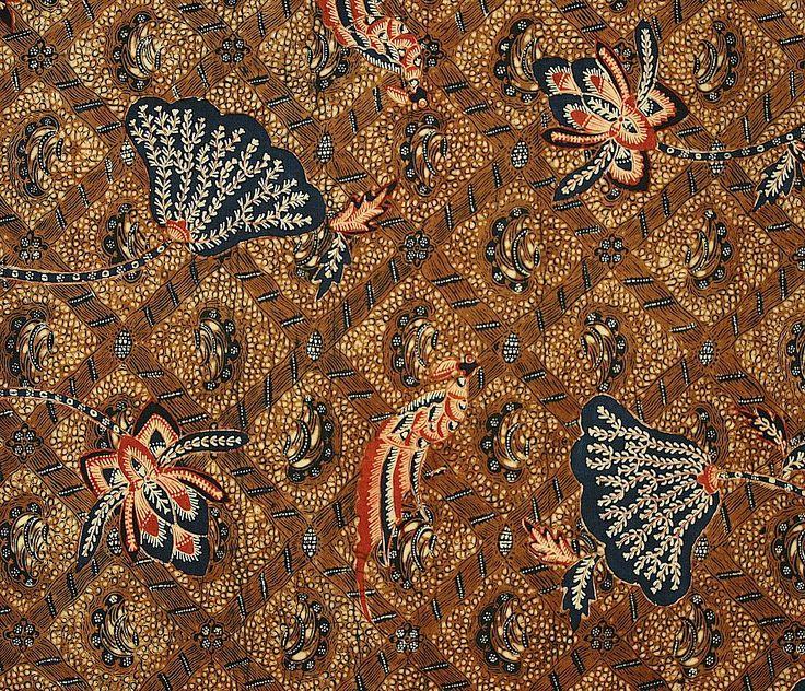 Indonesian batik sarong, Java, 1930's - detail
