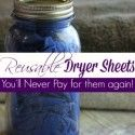 Homemade Reusable Essential Oil Dryer Sheets