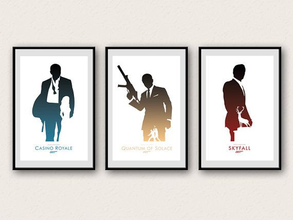 James Bond 007 Minimalist Poster Daniel Craig by WestGraphics, $35.00