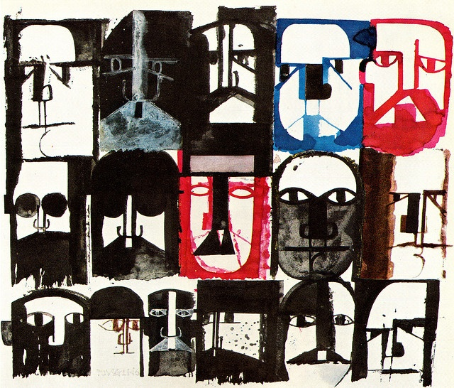 Pino Tovaglia Ink and Wash Drawing. From Graphis 96, 1961. Quite lovely.