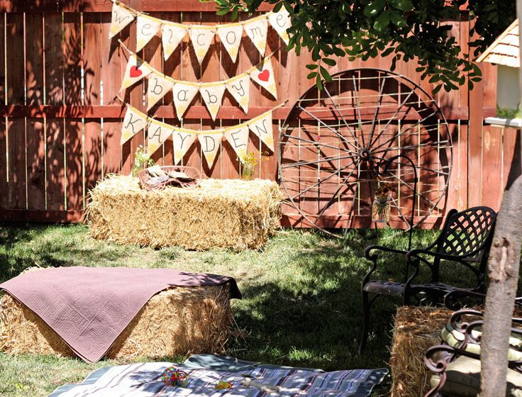 western baby shower decorations