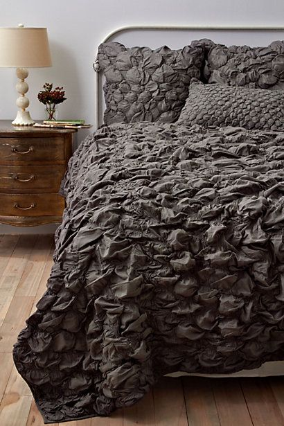 Catalina Quilt, Charcoal #anthropologieGuest Room, Charcoal, Colors, Bedspreads, Duvet Covers, Catalina Quilt, Master Bedrooms, Grey, Beds Sets