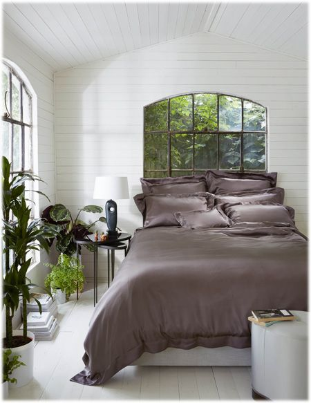 Parure de lit Gingerlily en soie. Un Linge de Lit uni de grande qualité !