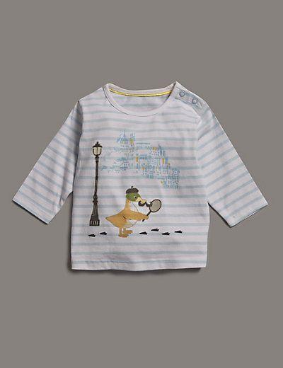 Pure Cotton Duck Spy Print T-Shirt
