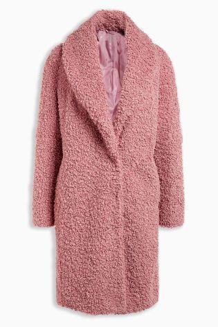 Pink Faux Fur Coat Coats Jackets Women, Pink Teddy Bear Faux Fur Coat