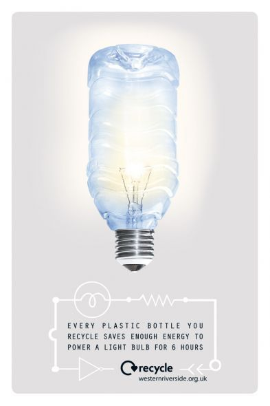 Save #Energy..Food for thought : Every plastic bottle you recycle saves enough to power a bulb for 6 hours #Recycle #Sustainable