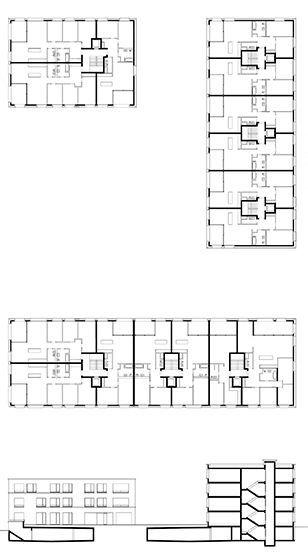 baumschlager eberle: WohnungsbauAltstattwiese, Baufeld A+B