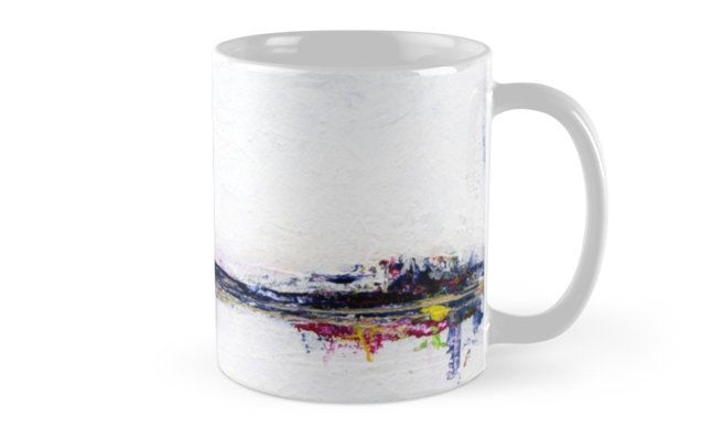 Frozen Abstract Landscape - mug design by scatterlings