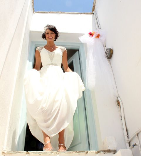 Beautiful Claire, came all the way from Dubai to get married on Naxos Island