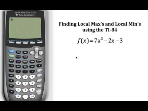 how to find max and min on ti-84