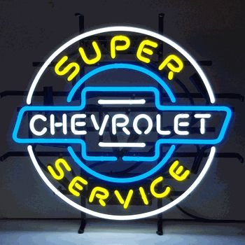 Super Chevy Service Neon Sign