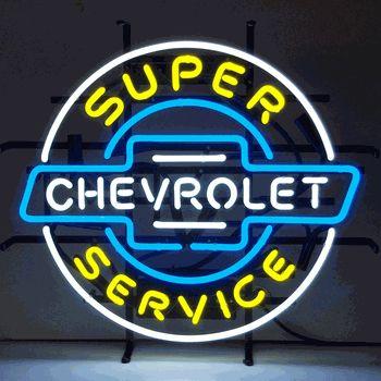 Super Chevy Service Neon Sign