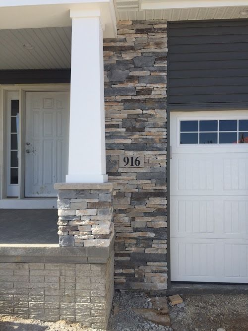 Boral Echo Ridge Country Ledgestone Garage Column House