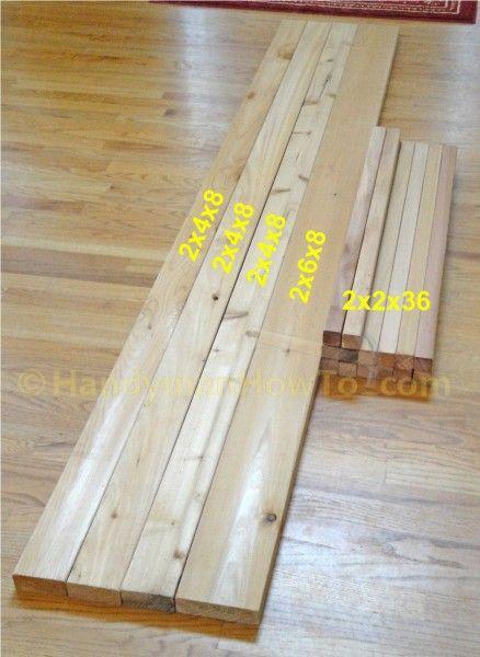 Western Red Cedar Lumber for a Deck or Porch Rail