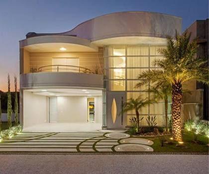 Resultado de imagem para casa com fachada redonda